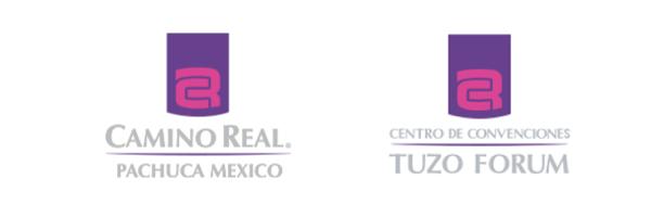 Logotipo Camino Real Pachuca y Tuzo Forum