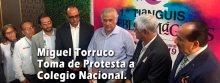 Toma de protesta a Colegio Nacional 2020: Miguel Torruco