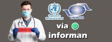"OMT: Médico con letrero ""Covid-19"" informa vía WhatsApp"