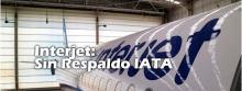 Avión de Internet guardado en angar